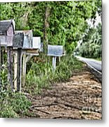 Mail Route Metal Print