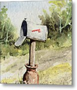 Mailbox Metal Print
