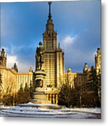 Main Building Of Moscow State University On Sparrow Hills - 2 - Featured 3 Metal Print