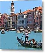 Main Canal Venice Italy Metal Print