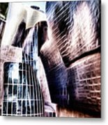 Main Entrance Of Guggenheim Bilbao Museum In The Basque Country Fractal Metal Print