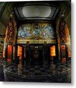 Main Lobby Of City Hall Buffalo Ny Rear Metal Print