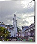 Main Square In Quito Ecuador Metal Print
