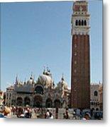 Main Square In Venice Metal Print