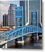 Main Street Bridge Jacksonville Florida Metal Print