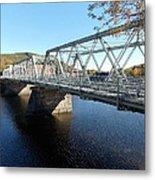 Main Street Bridge Shelbourne Falls  Metal Print