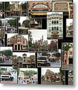 Main Street Disneyland Collage 02 Metal Print