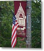 Main Street Flags Dwight Il Metal Print