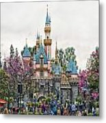 Main Street Sleeping Beauty Castle Disneyland 01 Metal Print