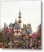 Main Street Sleeping Beauty Castle Disneyland 02 Metal Print
