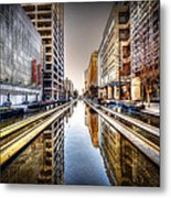 Main Street Square Metal Print