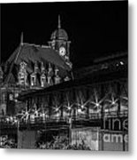 Main Street Station In Black And White Metal Print