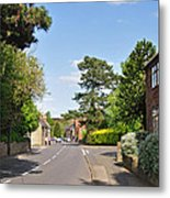 Main Street -ticknall Village Metal Print