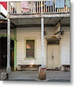 Main Street With Shops And Museum Metal Print
