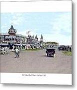 Maine - Old Orchard Beach Train Depot - 1910 Metal Print