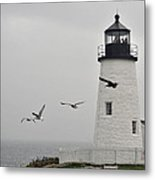maine 11 Pemaquid Lighthouse Before Storm I Metal Print