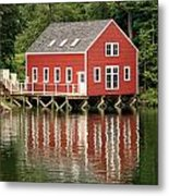 Maine Boat House Metal Print