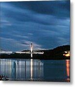 Maine Bridge And Fort Knox  Metal Print