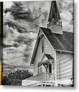 Maine Coast Church Metal Print