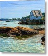 Maine Fishing Port Metal Print