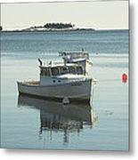 Maine Lobster Boats In Winter Metal Print
