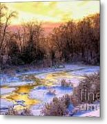 Maine Morning Inspiration Metal Print