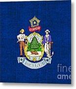 Maine State Flag Metal Print by Pixel Chimp