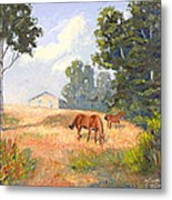 Mainely Grazing Metal Print
