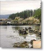 Maine's Beautiful Rocky Shore Metal Print