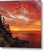 Maine's Bold Coast Metal Print by Chad Tracy
