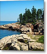 Maine's Rocky Coastline Metal Print