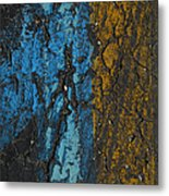 Maize And Blue Metal Print