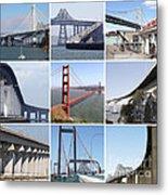 Majestic Bridges Of The San Francisco Bay Area Metal Print