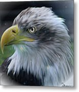 Majestic Eagle Of The Usa - Featured In Feathers And Beaks-comfortable Art And Nature Groups Metal Print