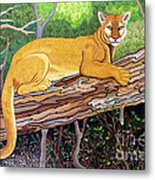 Majestic Hand Embroidery Metal Print
