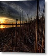 Majestic Lake Sunset Metal Print