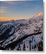 Majestic Mount Baker Sunrise Light Metal Print