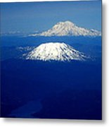 Majestic Northwest Mountains And The Mighty Columbia River Metal Print