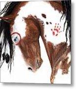 Majestic Pinto Horse 129 Metal Print