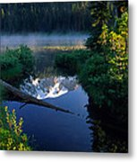 Majestic Reflection Metal Print by Inge Johnsson