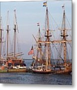 Majestic Tall Ships Metal Print