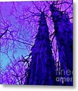Majestic Tree Of Wild Texture Metal Print