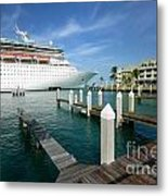 Majesty Of The Seas Docked At Key West Florida Metal Print