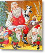 Making A List Checking It Twice Metal Print