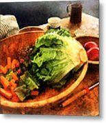 Making Waldorf Salad Metal Print by Susan Savad