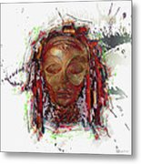 Makonde Mapiko - Lipiko Mask Metal Print