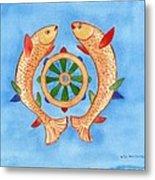 Makya Golden Fish Metal Print