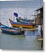 Malaysian Fishing Jetty Metal Print