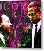 Malcolm And The King 20140205m68 With Text Metal Print by Wingsdomain Art and Photography