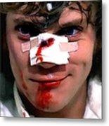Malcolm McDowell as Alex in the film Clockwork Orange by Stanley Kubrick 1971 Metal Print